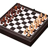 International Chess Set Magnetic Travel Chess Set 3 in 1 Chess Checkers Backgammon Set for Adults Kids Folding Portable Chess Set Traditional Chess Game Portable Travel