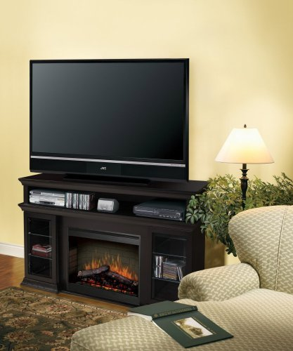 Cheap DIMPLEX Symphony Media Bennett TV Stand with Electric Fireplace in Espresso Black Friday & Cyber Monday 2019