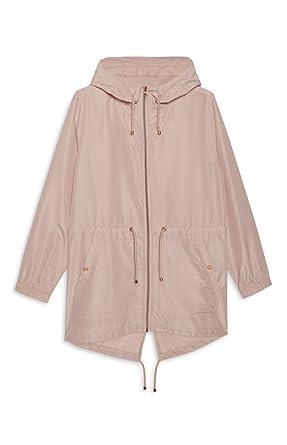Primark - Abrigo Impermeable - para Mujer Rosa Rubor Medium: Amazon.es: Ropa y accesorios