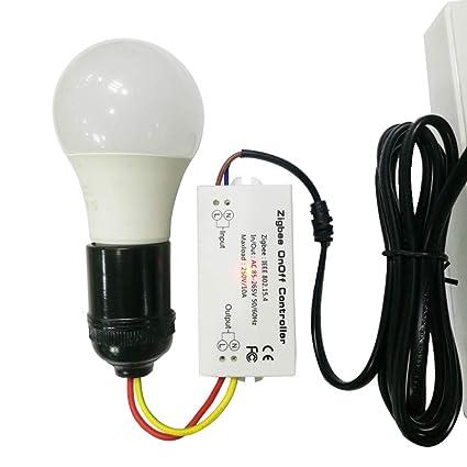 Smart Home Zigbee Wireless Switch Module For Echo/Smart Things Hub