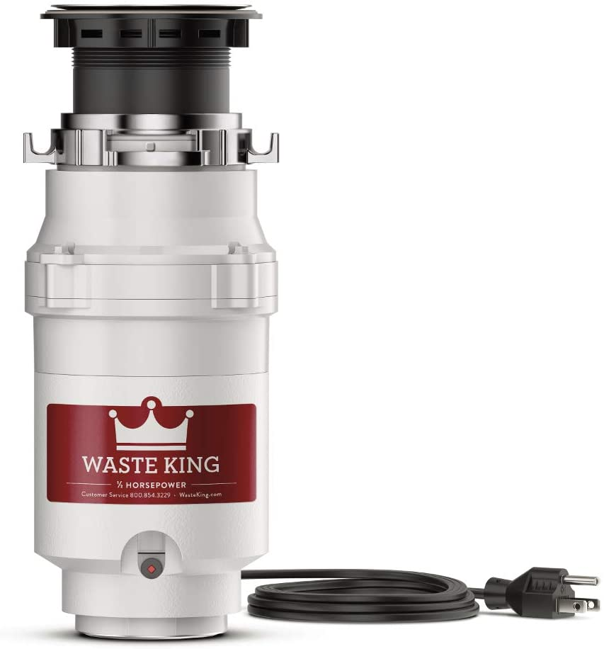 Waste King L-1001 Garbage Disposal with Power Cord, 1/2 HP - Food Waste Disposers -
