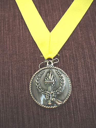 Bronze Torch Victory Medal with Yellow Neck Ribbon