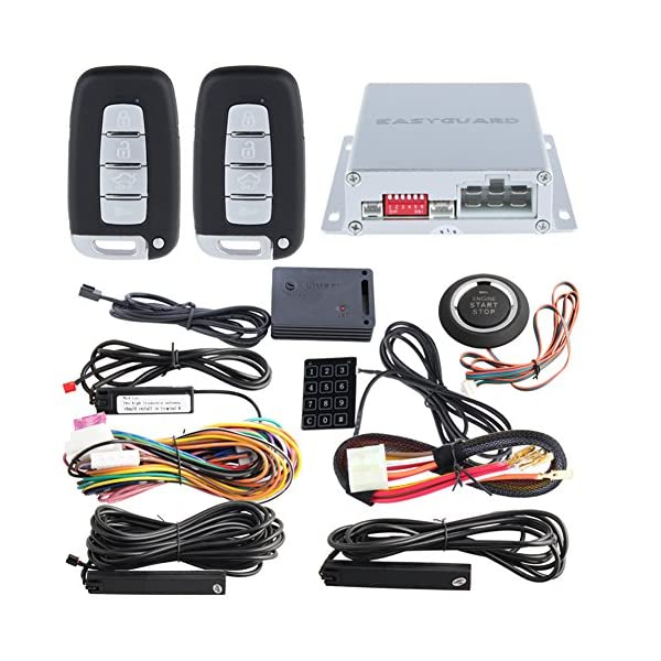 EASYGUARD EC002 K NS Intelligent Car Alarm Kit With Passive Keyless Entry Automatically Lock Unlock Car Door Remote…