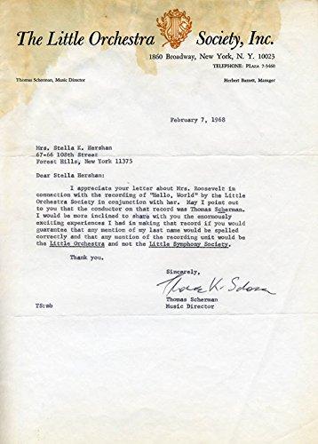Captain Thomas Scherman Typed Letter Signed 02/07/1968