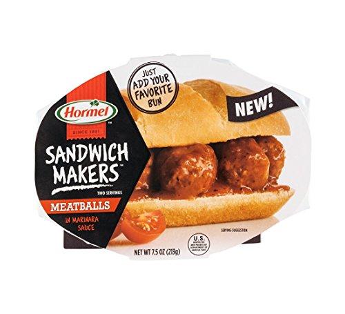 Hormel Sandwich Makers Meatballs Marinara