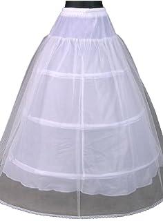 6e3c85f1f85 Bridess Women s Crinoline Underskirt Petticoat Slip for Wedding Bridal Dress  White