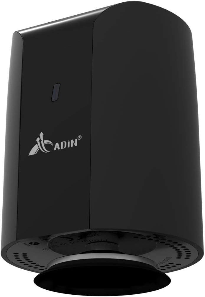 Adin–Altavoz con vibración Bluetooth 360Grados Doble Membrana Altavoz inalámbrico Recargable 15W BT20Negro BT-20K