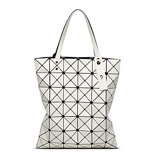 6cda2b8fdc68 HITSAN INCORPORATION Luxury Brand Designer Holographic Bag Geometric  Rhombus Ladies Bags Issey Miyake Handbags Tote Bags BaoBao 6   7 Color  White  ...