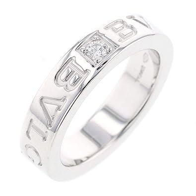 f7a28c861903 Amazon | (ブルガリ)BVLGARI BB ダブルロゴ 1P リング・指輪 K18ホワイト ...