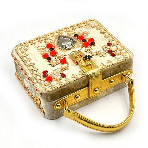 Gold De Gold Franela Yy3 Mensajero Hombro Tarde Bolso Jessiekervin color Embutido Bolsa aTpwFWq