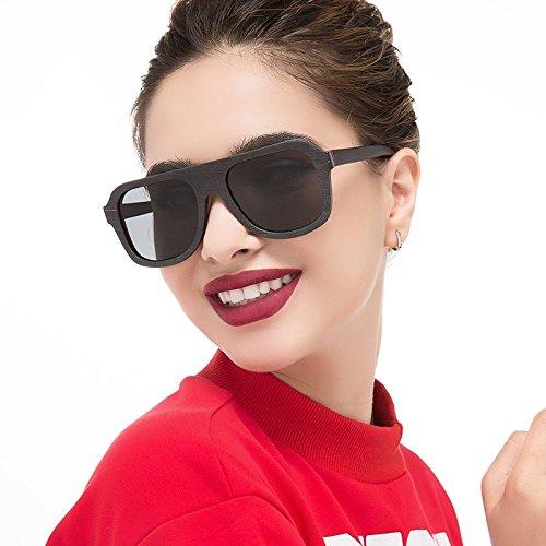 De Real Multicapa Gafas Black Gafas De Unisex Gafas TIANLIANG04 Gris De Gray Sol Hombre 100 Antirreflejante Sol Polaroid Café Gafas En Color De De Madera De Sol Bastidor Madera wx8xIq0dp