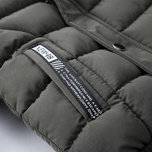 Kehen Kids Toddler Boy Girl Winter Fur Hooded Trench Coat Warm Down Jacket Thick Outerwear (Gray, 4T) by Kehen (Image #5)