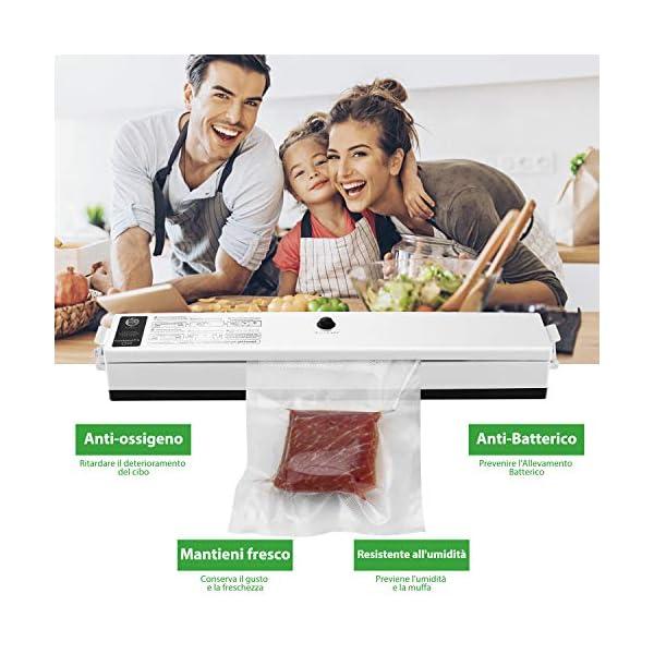 Macchina Sottovuoto per Alimenti, iLmyh Sigillatore Automatico Sottovuoto per Alimenti Freschi Sia Secchi Che Umidi… 2