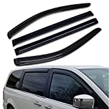 Lightronic Window Visors 4 Pieces Set WV94251 for 2008-2018 Dodge Grand Caravan,2008-2016 Chrysler Town & Country