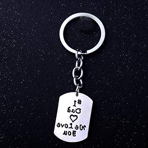 (Florance jones Keyring Gift for Dad Key Rings Birthday Dad Present Fathers Day Daddy Papa Charm | Model NCKLCS - 7987 |)