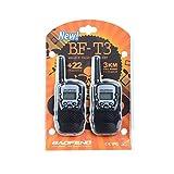 Ammiy BaoFeng Mini BF-T3 Kids Walkie Talkie Kids Radio 0.5W UHF462-467MHz 22CH Portable for Children Toy Two Way Radio (Two Packs Black)