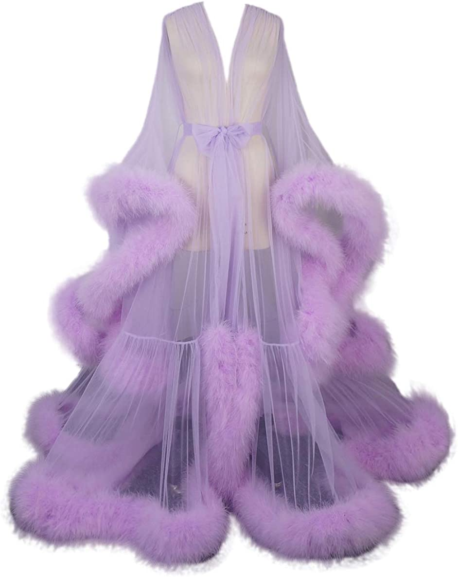 Upgrade Manufacturer security OFFicial shop Feather Dressing Gown Boudoir Old Hollywood Wedding Gift