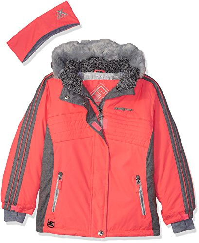 (ZeroXposur Girls' Big Abby Snowboard Jacket, Salmon, X)