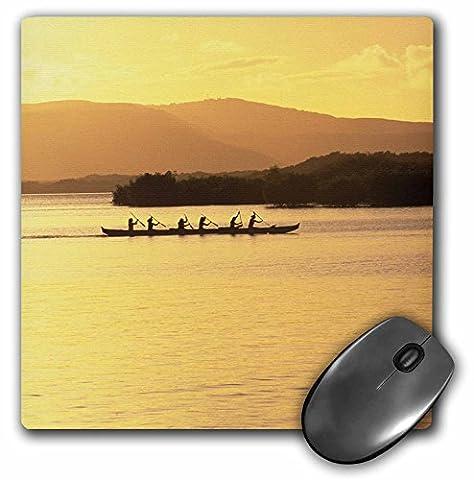 3dRose LLC 8 x 8 x 0.25 Inches Mouse Pad, Outrigger Canoe Sunset Molokai Hawaii (Hawaii Outrigger)