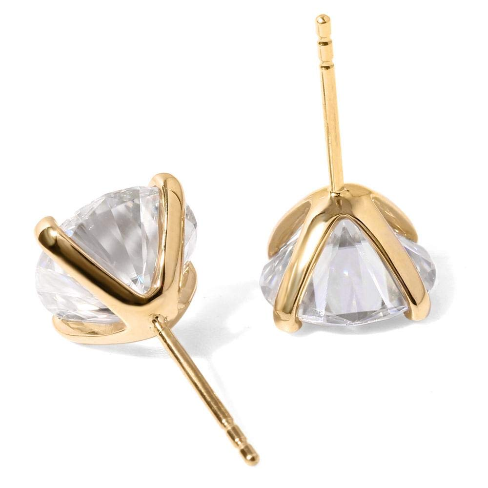 Jalash 2.00ct Cubic Zirconia Womens Stud Earring 14k Yellow Gold Fn