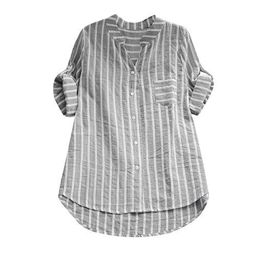 - Lloopyting Three-Point Sleeve Casual Shirt Women's Loose Button Short Shirt Dress Cotton T-Shirt Shirt Black