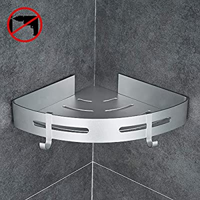 Gricol Bathroom Shower Shelf Triangle Wall Shower Caddy Space Aluminum