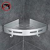 how to tile shower walls Gricol Bathroom Shower Caddy Adhesive Corner Shelf