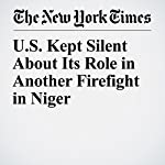 U.S. Kept Silent About Its Role in Another Firefight in Niger | Charlie Savage,Eric Schmitt,Thomas Gibbons Neff