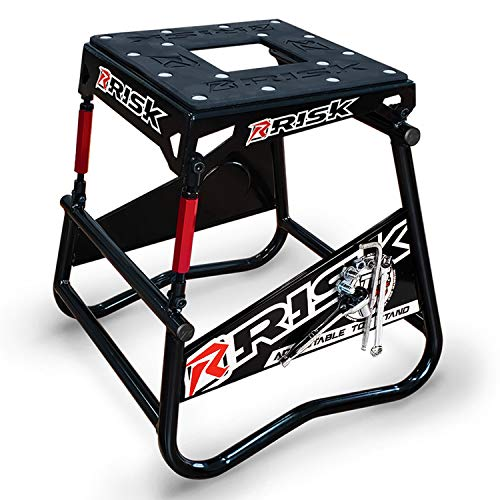 RISK Racing 00381 ATS Adjustable Top Magnetic Motocross/Dirt Bike Stand ()