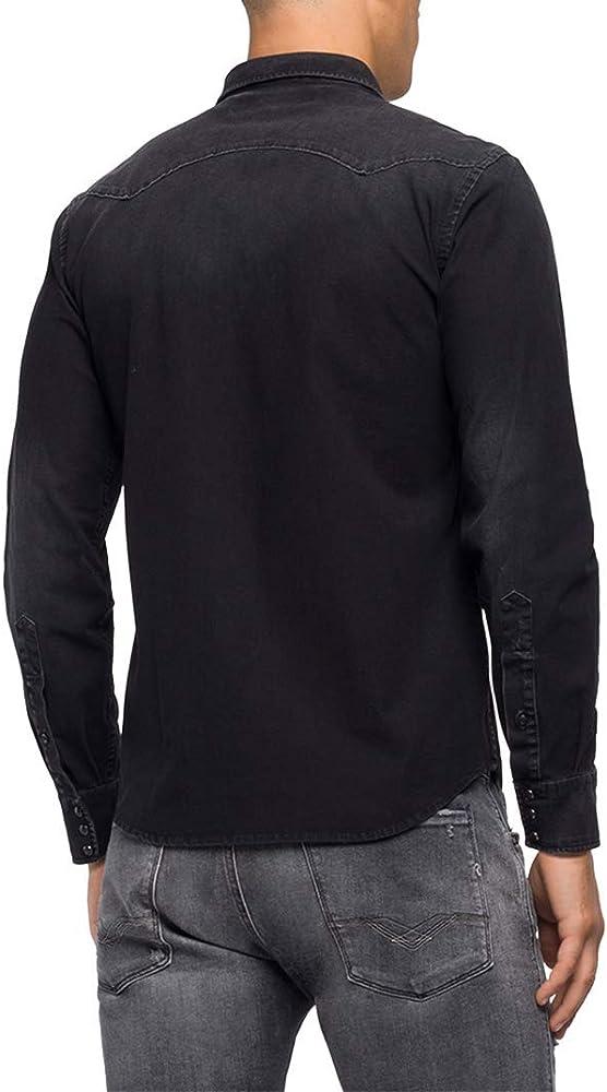 REPLAY M4001 .000.41b 337 Camisa Vaquera, Negro (Black 98), X-Small para Hombre: Amazon.es: Ropa y accesorios