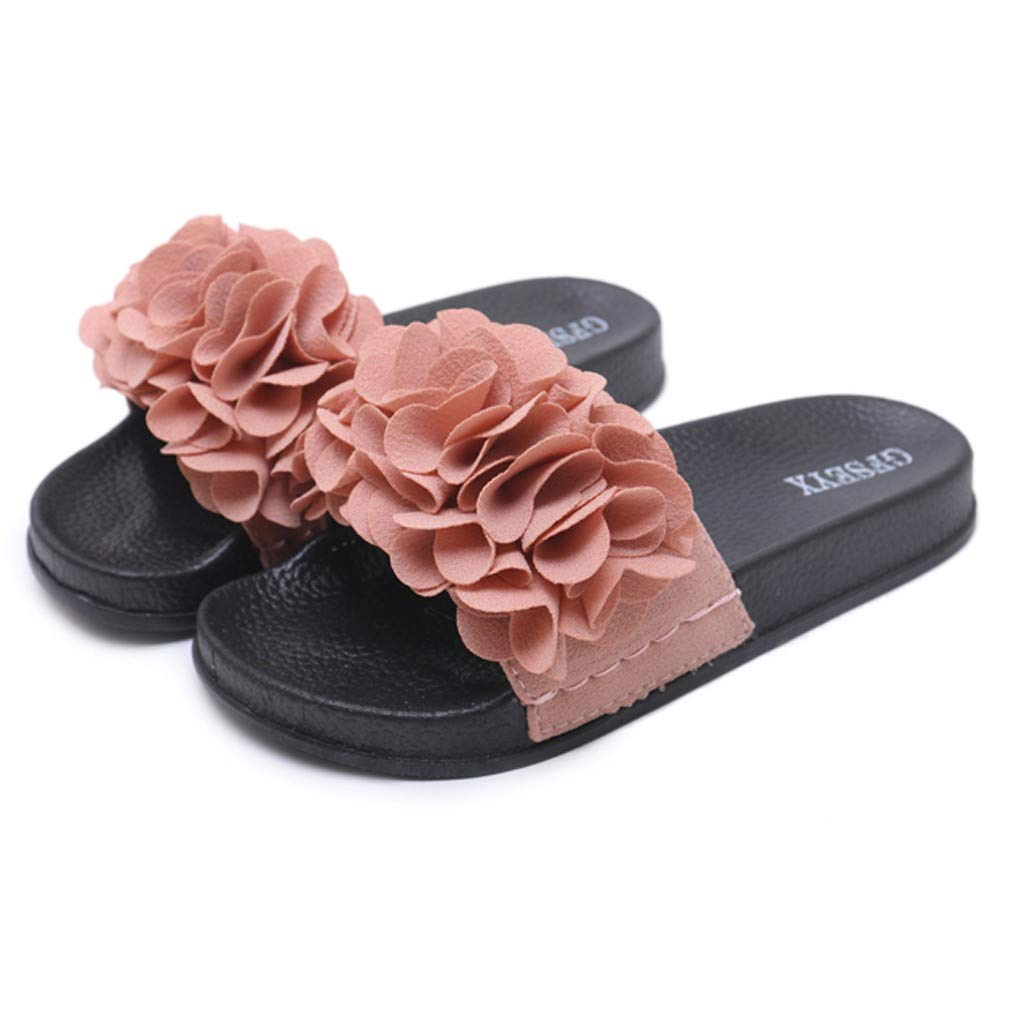 2019 Fashion Summer Butterfly-Knot Outdoor Slippers Beach Shoes Casual Comfortable Home Slipper Rome Flat with Shoes (Pink, 7.5) by Huaze (Image #1)