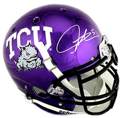 Ladainian Tomlinson Signed Authentic Helmet - LaDainian Tomlinson Signed TCU Horned Frogs Schutt Authentic Chrome NCAA Helmet