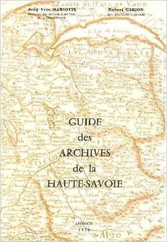 En ligne téléchargement Guide des archives de la Haute-Savoie epub pdf