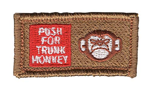 Push For Trunk Monkey Small Pocket Patch Hook and Loop ()