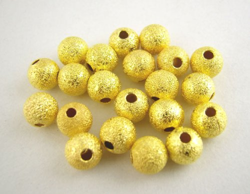 Spacer Plated Gold Stardust - PEPPERLONELY 200PC Gold Plated Stardust Ball 5mm Spacer Beads [Office Product]