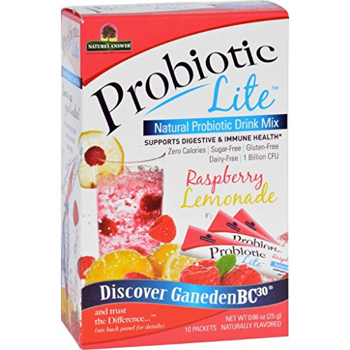 Natures Answer Probiotic Drink Mix - Natural - Probiotic Lite - Raspberry Lemonade - .88 oz - 10 Count