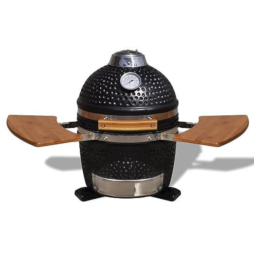 vidaXL kamado Barbecue Grill Räucherofen cerámica 44 cm: Amazon.es ...