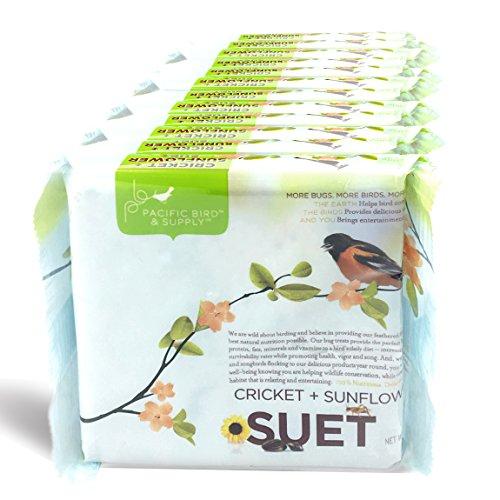 - Pacific Bird & Supply Co Cricket + Sunflower Suet Cakes PB-0030 (Case of 12)