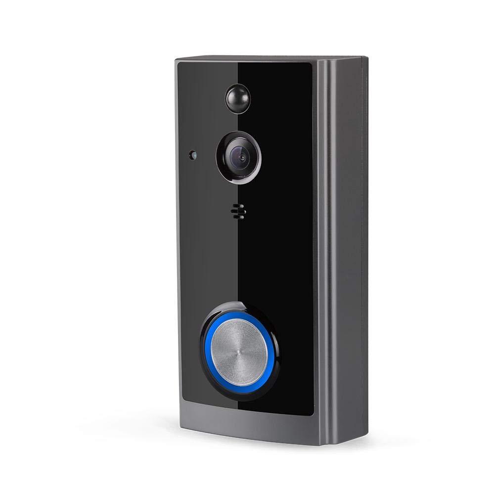 WIFI-Video-Doorbel, drahtlose intelligente drahtgebundene Überwachungskamera WIFI mit PIR Motion Detection-HD Aufnahme-Nachtsicht für Landhaus-Haus-Büro-Wohnung