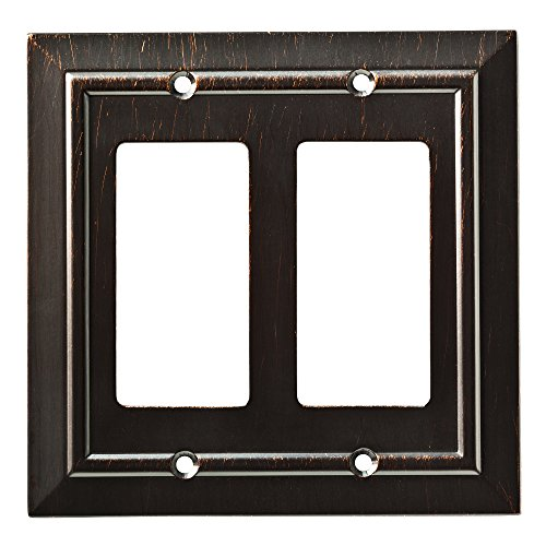 Franklin Brass W35224-VBR-C Classic Architecture Double Decorator Wall Plate/Switch Plate/Cover, Venetian Bronze - Rocker Switch Wall Plate