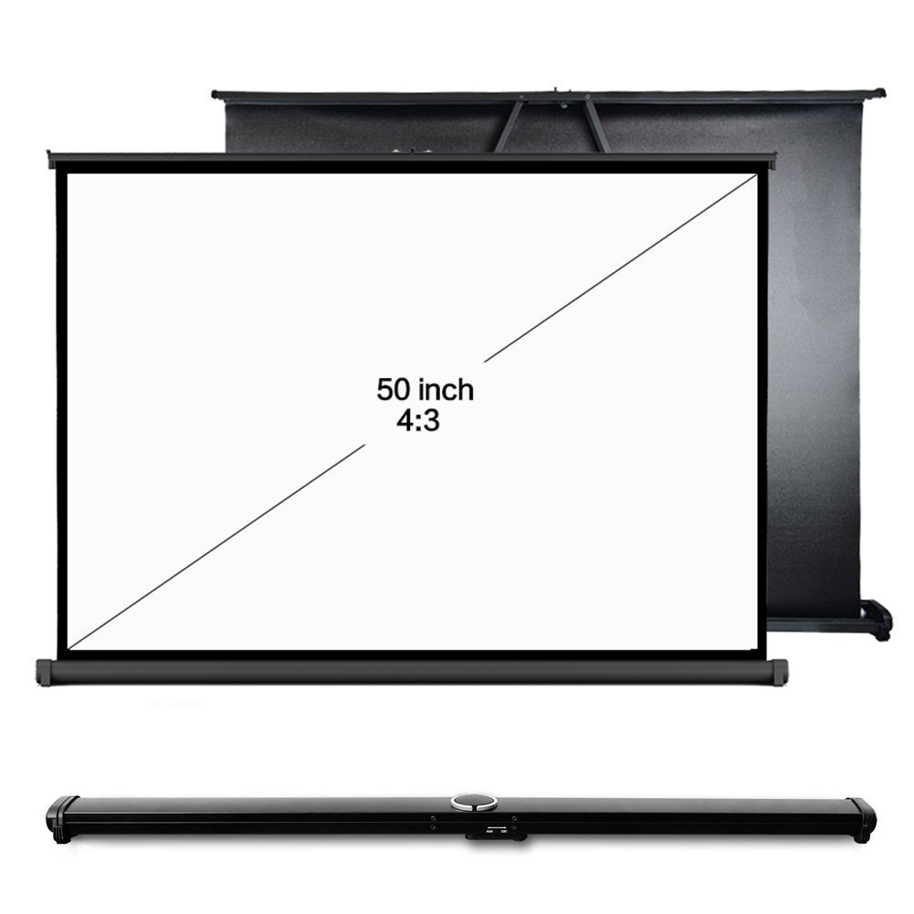 Everyone Gain Portable Movie Screen Foldable Table Projector Screen For Outdoor Business Home Theater Cinema(50 inch 4:3)