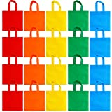 Aneco 20 Pack 10 x 10 Inch Non-woven Bags Party Gift Bag Treat Tote Bags Party Favors Bag with Handles, 5 Colors