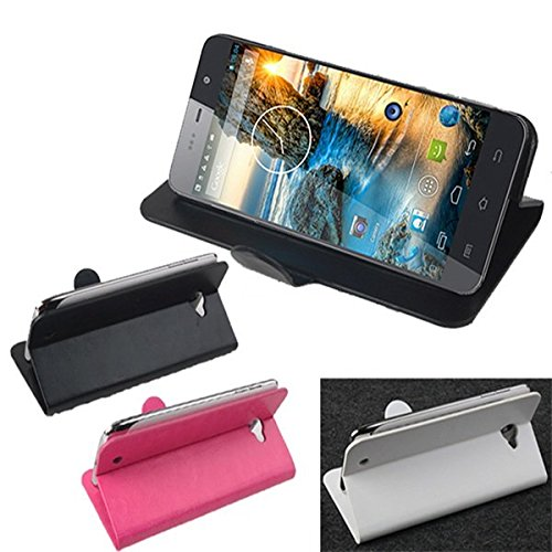 Pink Lizard Flip PU Leather Case Cover Stand for THL W200S W200C W200