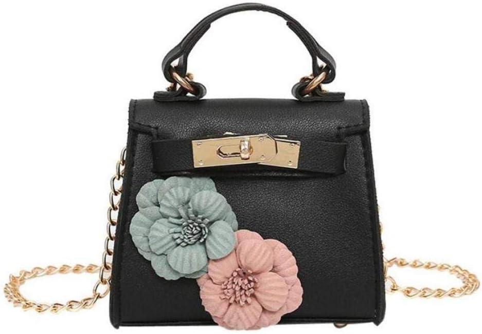 zlyhk Bolso De Cuero Bolsos Bolsos Mujeres Marcas Famosas Cuero Flores Bolso Cross Body Messenger Bag