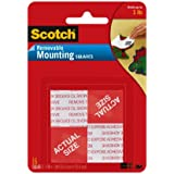 Scotch Mounting, Fastening & Surface Protection 108 REMOVABLE MOUNTNG 1X1IN. 16PC, 1, Grey, 16 Count