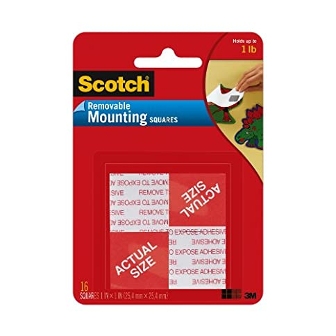 - 51oukRwz AL - Scotch Brand 108 Removable MOUNTNG 1X1IN. 16PC, 1, Grey, 16 Count