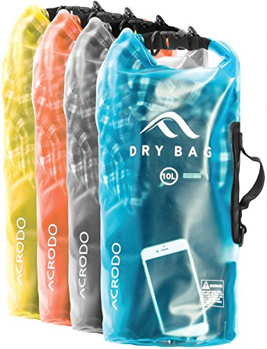 New-Acrodo-Waterproof-Dry-Bag-Transparent-10-Liter-Floating-for-Boating-Camping-and-Kayaking-With-Shoulder-Strap--Keeps-Clothing-Electronics-Protected