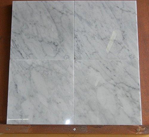 Italian Original Marble. Box with 10 Tiles in White Marble Carrara Original Italian. Quality CD. Measures 30.5 x 30.5 cm Thickness 1 cm B&D Stone