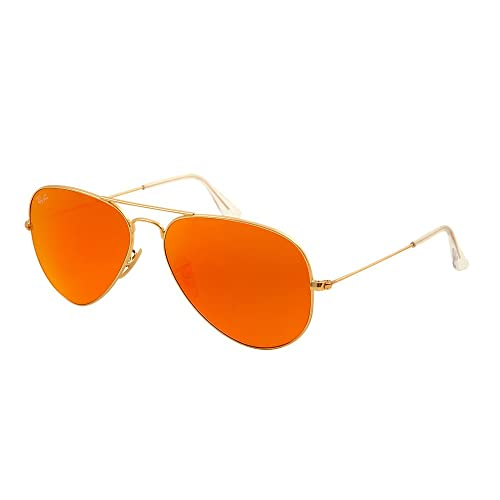 0ffb4cc45e Ray Ban Aviator 3025 112/69 Orange Flash Rojo Espejo: Amazon.com.mx ...