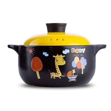 Casserole Ceramic Pot Stone Pot Earthen Pot Large Capacity Kitchen Utensils Stockpot Stew Gift Home Cartoon